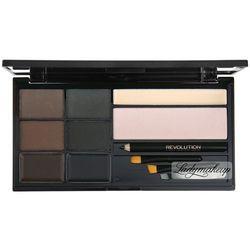 Makeup Revolution, Ultra Brow Palette paleta do makijażu brwi Medium To Dark 19g - Makeup Revolution