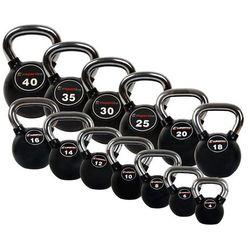 Zestaw hantli gumowanych inSPORTline Kettlebell Profi 4-40 kg