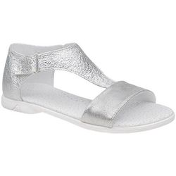 Sandałki dla dziewczynki KORNECKI 4750 Srebrne Brokat - Srebrny