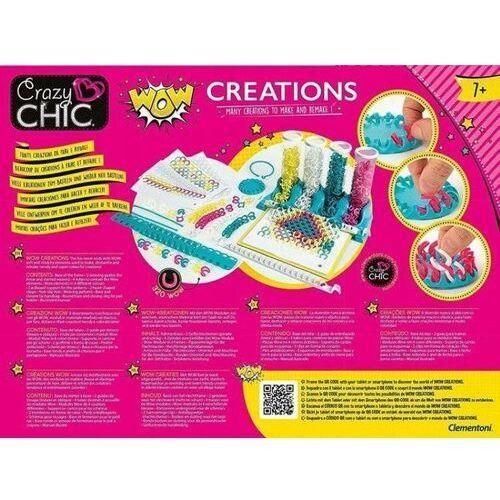 Kreatywne dla dzieci, CLEMENTONI Crazy Chic zestaw do tworzenia mody WOW Kreacje handmade 50642