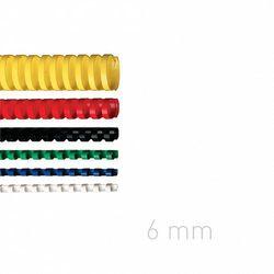 Grzbiety plastikowe O.COMB 6mm niebieskie 100szt./op. OPUS