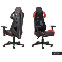 SELSEY Fotel gamingowy Burgone czarno-czerwony