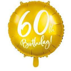 """Balon foliowy """"60 Urodziny 60th Birthday"""", PartyDeco, 18"""" złoty"""