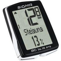 Liczniki rowerowe, SIGMA SPORT BC 14.16 STS CAD Licznik rowerowy kabellos czarny Liczniki rowerowe