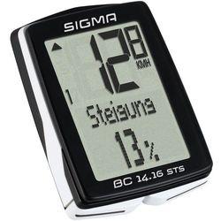 SIGMA SPORT BC 14.16 STS CAD Licznik rowerowy kabellos czarny Liczniki rowerowe - BEZPŁATNY ODBIÓR: WROCŁAW!