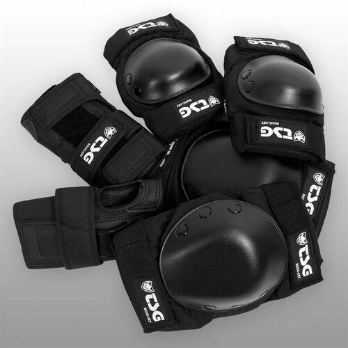 Ochraniacze na ciało, ochraniacze TSG - Basic-Set Black (102) rozmiar: L