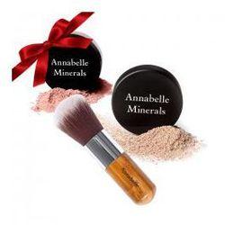 Prezent: Annabelle Minerals podkład kryjący 4g + róż 4g + pędzel kabuki