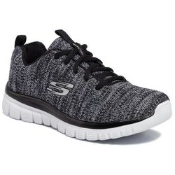 Buty SKECHERS - Twisted Fortune 12614/BKW Black/White