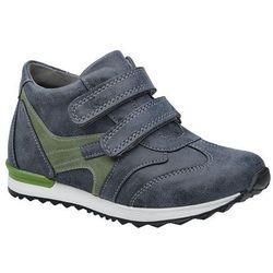 Trzewiki KORNECKI 4885 M Granatowe na rzepy nieocieplane Sneakersy - Granatowy ||Niebieski