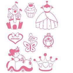 Zestaw stempli Stampo T-Shirt - księżniczka - KSK Promocja - 15% (-15%)