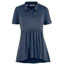 Shirt polo, fason o linii A, krótki rękaw bonprix ciemnoniebieski
