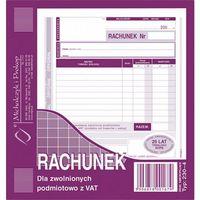 Druki akcydensowe, Rachunek dla zwol. podmiot. z Vat Michalczyk&Prokop 230-4 - A5 (oryginał+kopia)