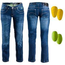 Damskie jeansy motocyklowe W-TEC B-2012, Niebieski, 35