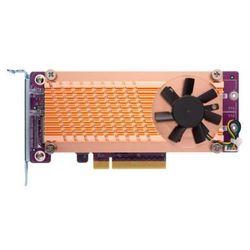 Karta rozszerzeń do serwera NAS QNAP QM2-2P-384 PCI-E x8 Gen 3 2x M.2 NVME 22110/2280 LP