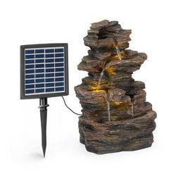 Blumfeldt Messina, fontanna kaskadowa, fontanna solarna, fontanna ogrodowa, 4 poziomy, bateria
