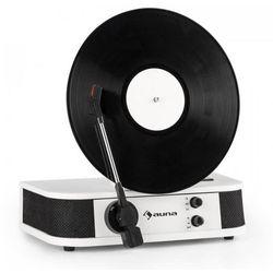 Verticalo S pionowy gramofon retro pionowy talerz gramofonu USB bialy