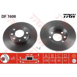 TARCZA HAM TRW DF1608 OPEL ASTRA F 1.4I, 16I 98-02, COMBO 1.4 94-01