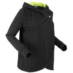 Bluza rozpinana, długi rękaw, z kolekcji Maite Kelly bonprix czarny melanż