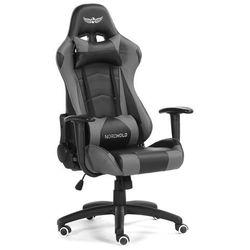 Obrotowy fotel gamingowy NORDHOLD - YMIR - szary