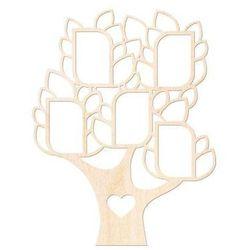 Drewniana dekoracja drzewo na zdjęcia