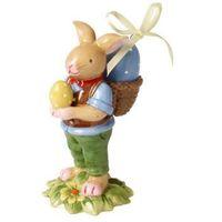 Ozdoby świąteczne, Villeroy & Boch - Bunny Family Figurka porcelanowa zając z pisanką