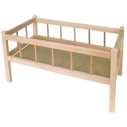 Teddies Drewniane łóżeczko dla lalek - BEZPŁATNY ODBIÓR: WROCŁAW!