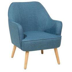 Fotel lazurowy - wypoczynkowy - do salonu - tapicerowany - LOKEN