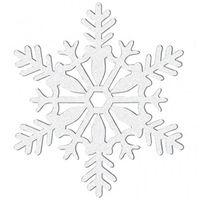 Ozdoby świąteczne, Dekoracja wisząca brokatowa Śnieżki - 10 cm - 4 szt.