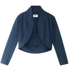 Bolerko shirtowe dziewczęce bonprix ciemnoniebieski