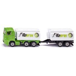 Ciężarówka z nadwoziem i przyczepą typu cysterna