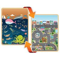 Maty edukacyjne, Mata dwustronna edukacyjna do zabawy - Ocean/City - Ocean/Miasto - Prince Lionheart