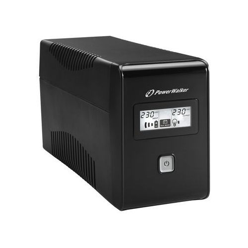 Zasilacze UPS, UPS POWER WALKER LINE-INTERACTIVE 850VA 2X 230V PL OUT, RJ11 IN/OUT, USB, LCD