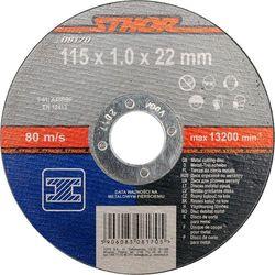 Tarcza do cięcia metalu 115 x 1 x 22 mm Sthor 08170 - ZYSKAJ RABAT 30 ZŁ