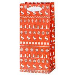 Torebka na prezenty Knitted christmas 7 x 10 cm