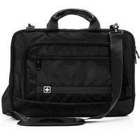 """Pokrowce, torby, plecaki do notebooków, SwissBags SION torba na ramię na laptopa 16"""" / czarna"""