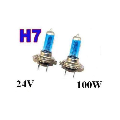 Żarówki ksenonowe samochodowe, Żarówki (2szt.) H7 Xenon H.I.D. Light Blue do Ciężarówek... (24V - moc 100W) - Homologowane.
