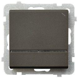 Łącznik schodowy z podświetleniem Czekoladowy metalik - ŁP-3RS/m/40 Sonata
