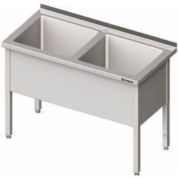 Stół z basenem dwukomorowym 1200x700x850 mm   STALGAST, 981407120