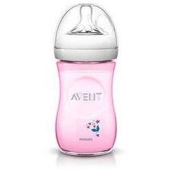 Butelka dla niemowląt Philips AVENT Natural 260 ml PP, květina Różowa