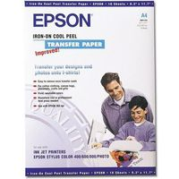Papiery i folie do drukarek, Epson C13S041154 Iron-on-transfer Paper, DIN A4, 124 g/m2, 10 arkuszy