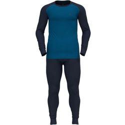 Odlo Active Warm Plus Special Set Men, niebieski L 2021 Zestawy bielizny termicznej i narciarskiej