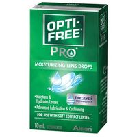 Płyny pielęgnacyjne do soczewek, OPTI-FREE PRO krople nawilżające do soczewek 10 ml