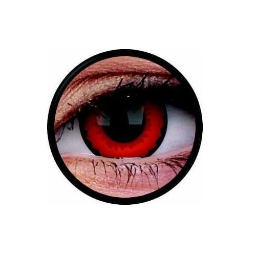 Soczewki kontaktowe, Soczewki kolorowe czerwone ZARATHOS Crazy Lens 2 szt.