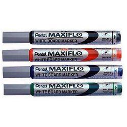 Marker suchościeralny MAXIFLO (z tłoczkiem), okrągła końcówka, Pentel MWL5SA, czarny