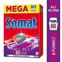 Kostki do zmywarek, Somat All in 1 Tabletki do mycia naczyń w zmywarkach 1440 g (80 sztuk)