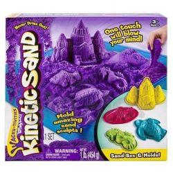 Spin Master Kinetic Sand - podwodny świat + foremki 454g fioletowy - produkt w magazynie - szybka wysyłka!