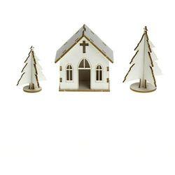 Zestaw 3D - Mini kościół i choinki - KOŚ
