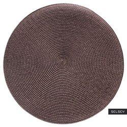 SELSEY Podkładka pod talerz Hellgrau średnica 38 cm brązowa