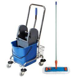 Wózek jednowiaderkowy z prasą 23 litry niebieski