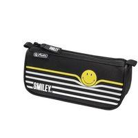 Piórniki, Piórnik kosmetyczka Smiley.World BY Strip HERLITZ - Black&Yellow Stripes